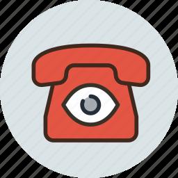 bigbrother, call, camera, communication, device, phone, spy icon