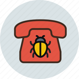 bug, call, communication, device, phone, spy, wiretapping icon