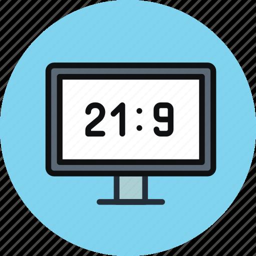 aspect ratio, device, hd, television, tv, ultra hd, ultrawide icon