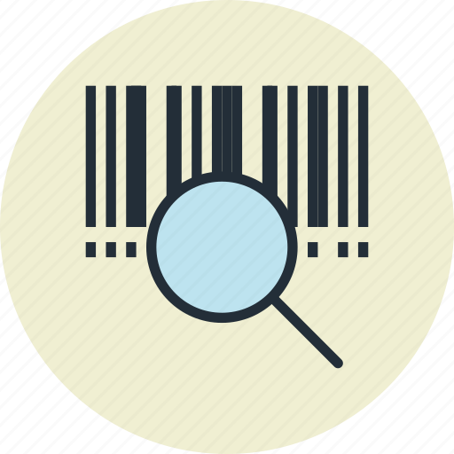 barcode, code, finance, identifier, product, search, store icon