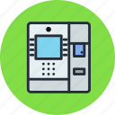 atm, cash, dispenser, machine, money icon