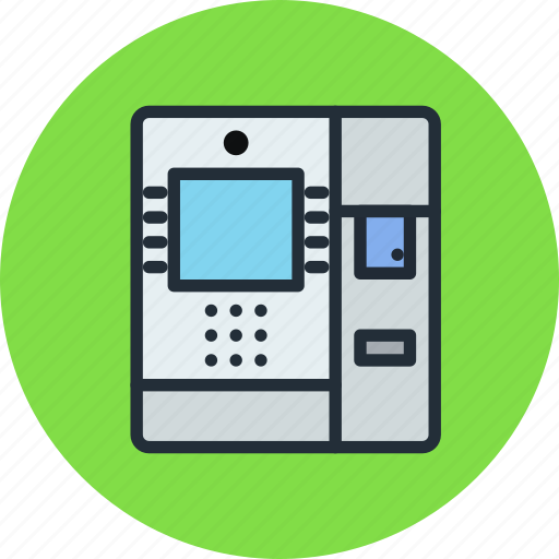 atm, cash, dispenser, machine, money icon