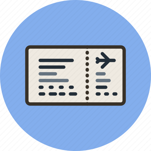 aeroport, airplane, control, ticket, transport icon