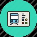 bus, railway, ticket, transport, trolleybus icon