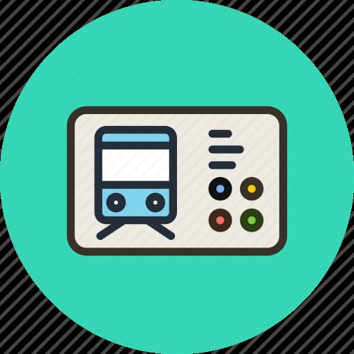 autobus, railroad, ticket, tram, transport, trolleybus, universal icon