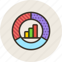 chart, diagram, economic, pie, schedule, statistic icon