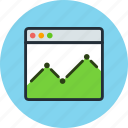 browser, diagram, economic, schedule, site, statistic icon