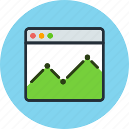 browser, diagram, economic, schedule, site, statistic icon