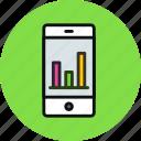 application, smartphone, analytics, chart, statistics