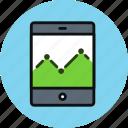 smartphone, tablet, analytics, graph, statistics