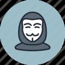 anonymous, avatar, hacker, user