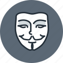 hacker, mask, face, anonymous