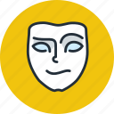 cheerful, emotion, face, mask, mimicry, playful icon