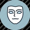 emotion, face, mask, meditative, pensive
