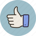 like, vote, yes, agree, thumbs up icon