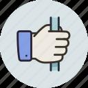 fist, hand, handrail, holding, grab