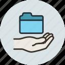 access, folder, hand, share