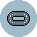road, stadium, track, treadmill, trial icon