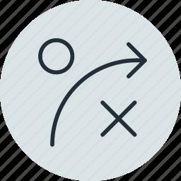 algorithm, game, logic, management, plan, strategy icon