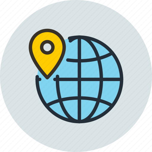 earth, geo, globus, gprs, location, targeting icon