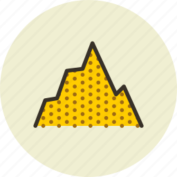 hill, mount, mountain, obstacle, rise, terrain icon