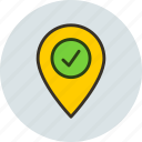 check, checkin, geo, location, targeting icon