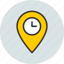 location, time, geo targeting, pin