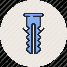 bolt, concrete, dowel, pin, renovate, repair, screw icon