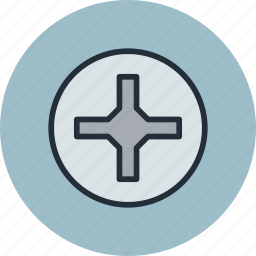 cross, helix, phillips, pin, pozidriv, screw, screwdriver icon