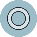 gasket, ring, shim, spacer, washer icon