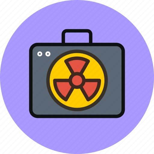 military, nuclear, politic, radiation, suitcase icon