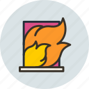 burning, fire, flame, house, trouble icon