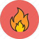 bonfire, burn, fire, flame, spark icon