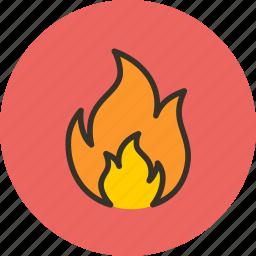 bonfire, burn, fire, flame, spark icon