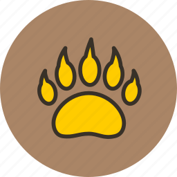 animal, bear, clutches, foodprint, predator, trace icon