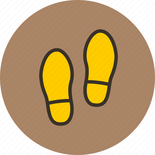 boots, foodprint, human, man, shoe, trace icon