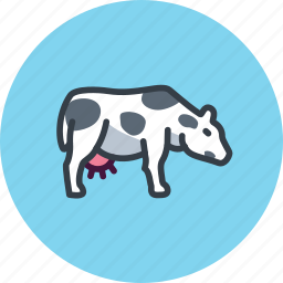 animal, beef, cow, milk, udder icon