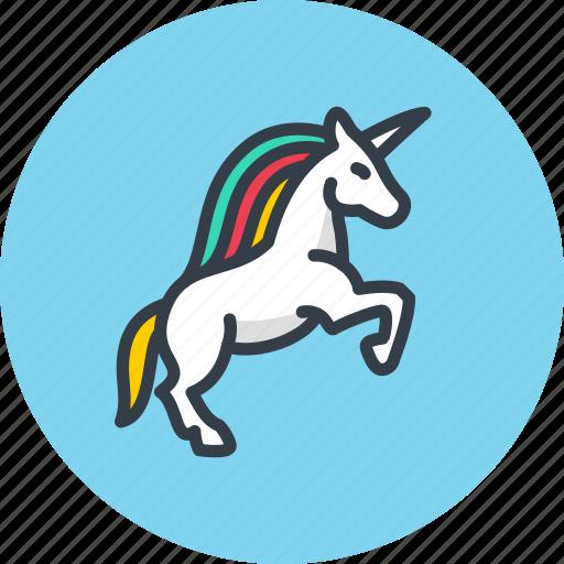 animal, fable, horse, icojam, magic, myth, unicorn, virgin icon