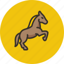 animal, equine, horse, mare, prance, stallion icon