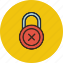 denied, lock, password, private, protection, secure icon