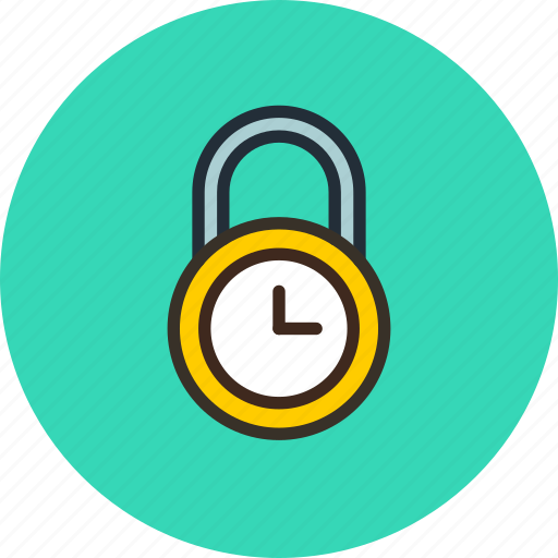 lock, password, private, protection, secure, time icon