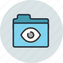 bigbrother, folder, pry, remote control, secret, share, spy icon