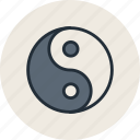 alfa, dialectics, evil, good, omega, philosophy, yin-yang icon