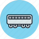 carriage, passenger, railway, suburban, train icon