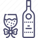 glass, party, bottle, wine, toast icon