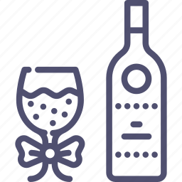 bottle, glass, party, tpast, wine icon