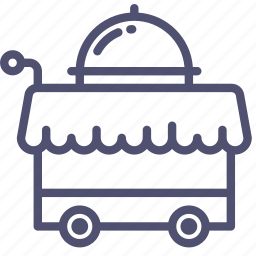 cart, food, hotel, room, service icon