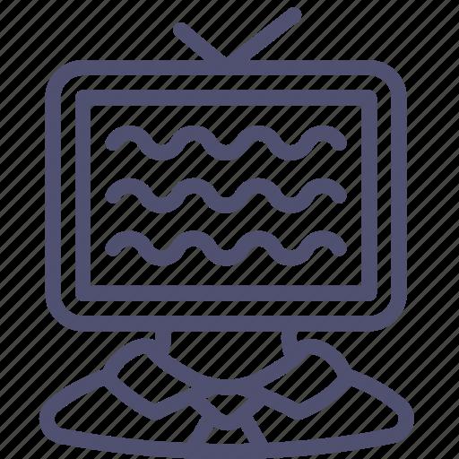 ad, advertisement, advertising, man, marketing, tv icon