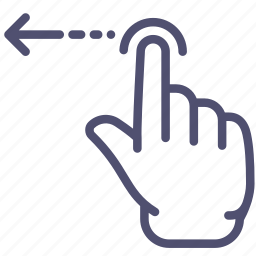 finger, gesture, hand, left, one, swipe icon