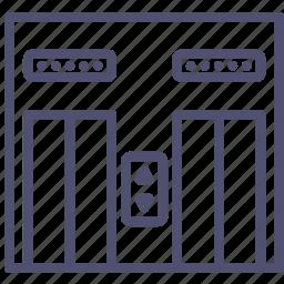 down, interior, lift, move, up icon